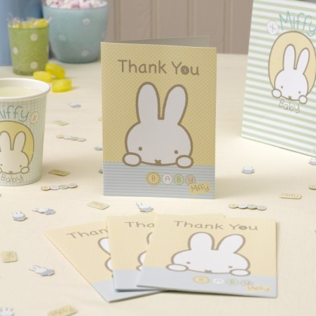 HRS 599547 Baby Miffy thank you card 10 CR