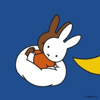 miffy and melanie on cloud moon