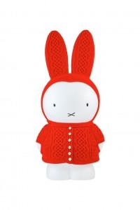Miffy with Kesennuma hand-knitted outfit by Kesennuma Knitting and Hobo Nikkan Itoi Shimbun
