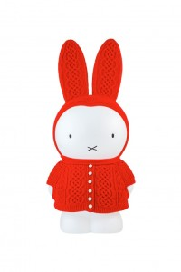 Miffy with Kesennuma hand-knitted outfit by Kesennuma Knitting and Hobo Nikkan Itoi Shimbun