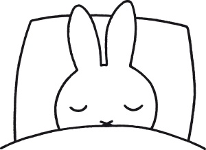 miffy in bed sleeping