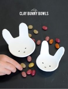 Miffy clay bowls