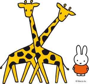 Miffy with giraffes