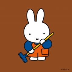 miffy with rake