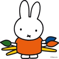 miffy with paint brushes