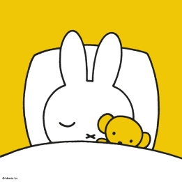 miffy in bed sleeping with bear