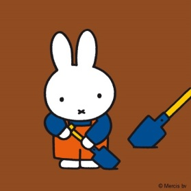 miffy with spade